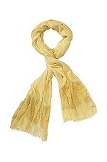 Cotton/wool/viscose scarf 'Nirieam'