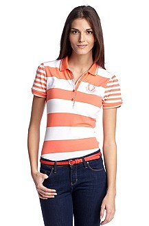 Polo shirt with block stripes 'Paksina'