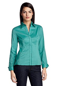 Blouse with side zip fasteners 'Bashina4'