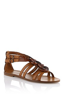 Calfskin leather sandal 'Klemi'