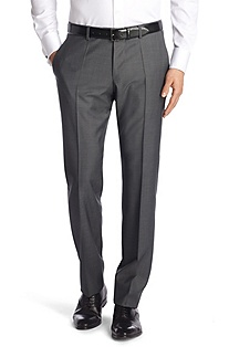 Suit trousers made of textured new wool 'Court1'