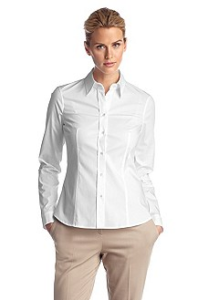 Business blouse with a Kent collar 'Banu11'