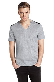 V-neck T-shirt 'Drapple'