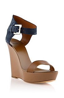 Platform sandal with a wedge heel 'Samoha'