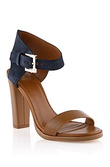 Leather mix sandal 'Skelli'