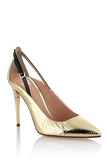 Water snake leather court shoe 'Bailye-A'