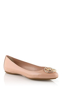 Ballerina in patent calfskin leather 'Lisette-V'