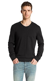 V-neck cotton sweater 'Dektor'