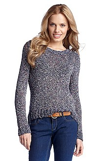 Knit sweater with a round neckline 'Indiza'