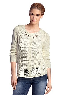 Knit sweater with a round neckline 'Walice'