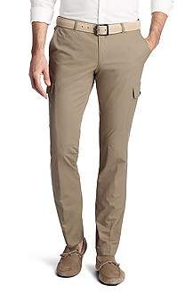 Pantalon cargo en coton, William-W