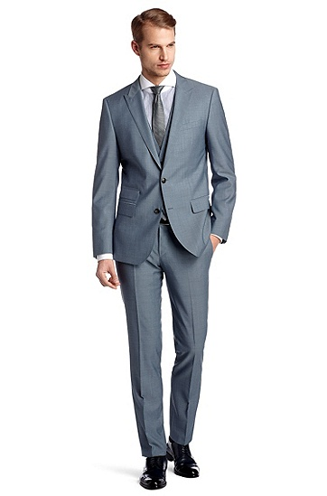 Slim fit business suit 'Hold1/Genius1 WE', Blue
