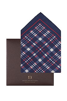 Cotton/silk pocket square'Pocket square 33x33'