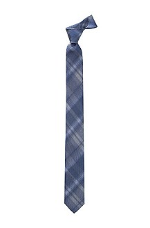 Silk/cotton blend tie 'Tie 6 cm'