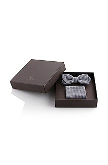 Cotton and viscose set 'bowtie+p.square'