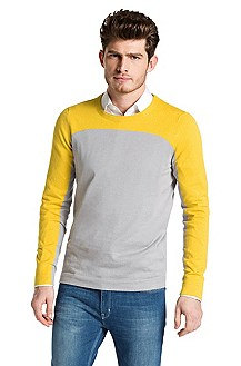 Finely knit blended cotton sweater 'Svan'