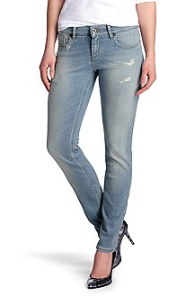 Jeans ´Lunja1 fresh` aus stretchigem Used Denim