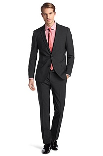 Slim fit suit in blended new wool 'Huge1/Genius1