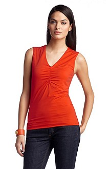 Top with gathered V-neckline 'E4720'