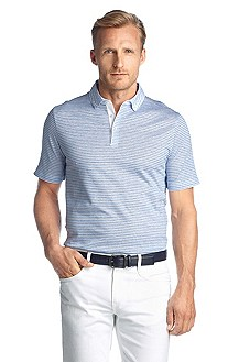 Polo shirt with a button-down collar