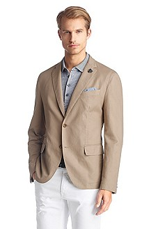 Tailored jacket with linen 'Maldon1-W'