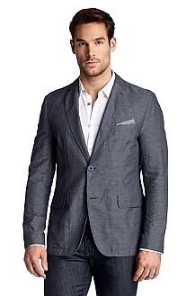 Tailored jacket with a check pattern 'Micah11-W'