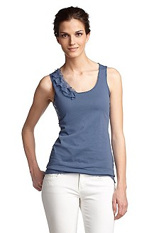Vest top with a round neckline 'Torga'