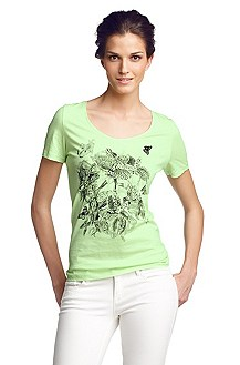 Printed-T-shirt with a round neckline 'Tausa'