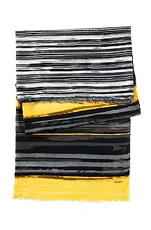 Cotton-silk blend scarf 'Women-Z 414'