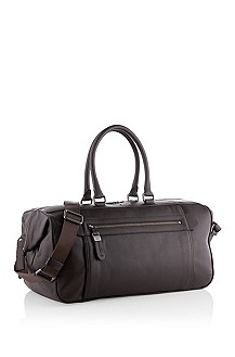 Textured leather weekender 'Gizan'