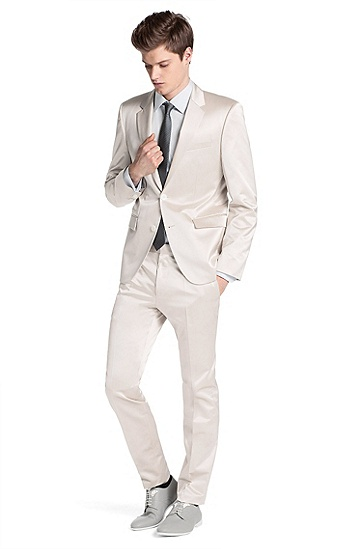 Fashion slim fit suit 'Aeron1/Hamen1', Beige