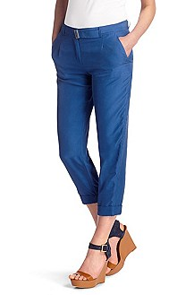Silk chinos with rolled-up hem 'Anissa1'