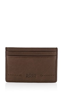 Soft cowhide leather card holder 'Sarras'