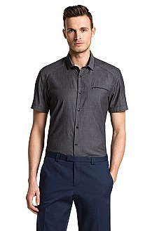 Slim fit casual shirt with Kent collar