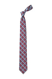 Tie with a checked pattern 'Tie 7,5 cm'