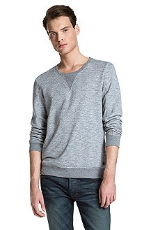 Sweat-shirt à encolure ronde en coton, Dalomon