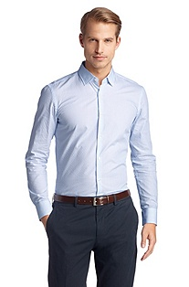 Slim Fit business shirt with a Kent collar 'Jenn