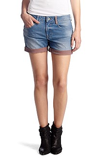 Blended cotton denim hotpants 'Latjana'