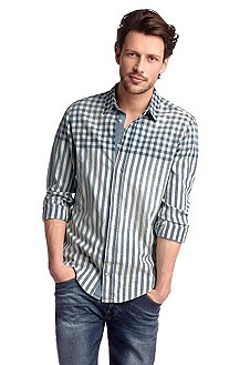 Chemise détente à col motif all-over, CliffE