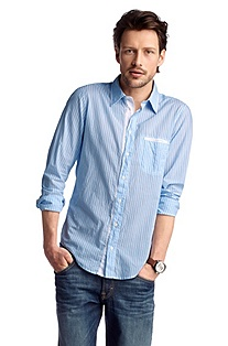Casual slim fit shirt 'CieloebuE'