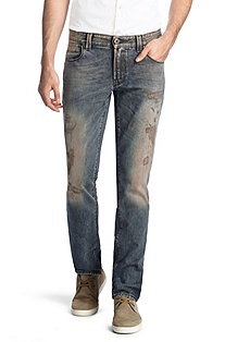 Distressed cotton jeans 'Orange63 ego'