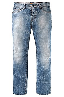 Jean en denim bleu, Orange25 zone