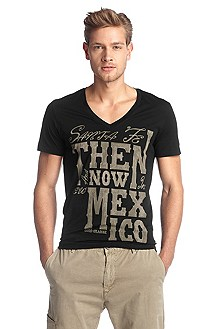 T-shirt à encolure en V, Think 1