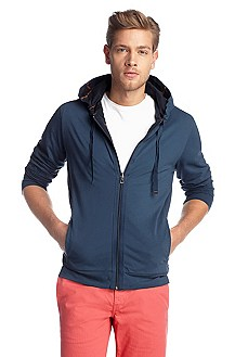 Reversible sweatshirt jacket in cotton 'Zepter 1