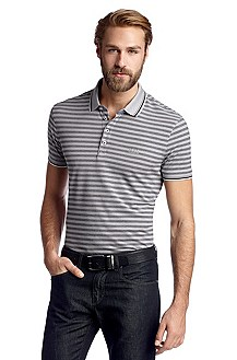Striped polo shirt 'Ancona 07 Modern Essential'