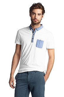 Polo shirt with a button-down collar 'Patchaman'