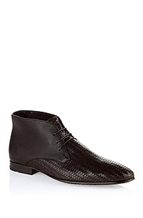 Braided calfskin leather lace-up 'Hinos'
