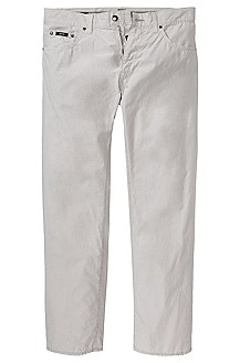 Chino-style trousers in pure cotton 'Maine-10'