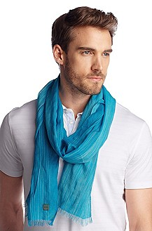 Scarf with contrasting colour stripes 'Cefi-1'
