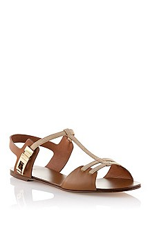 Sandal in a goatskin leather blend 'Cheira-S'